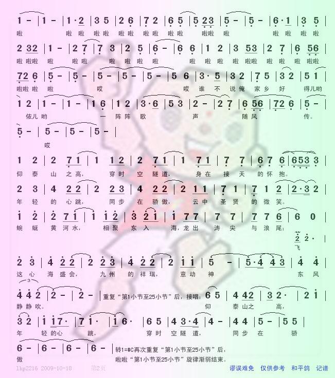 曲谱上传 下载 第十一运 相亲相爱 曲谱 转 Powered by Discuz